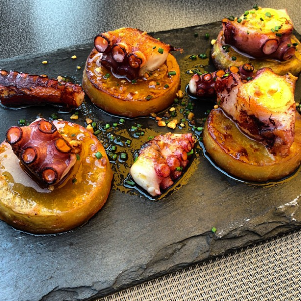Next level pulpo at Txoko in Getaria. Grilled octopus on fondant potato